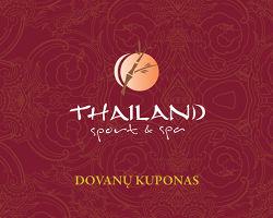Dovanų kuponas Thailand sport&spa